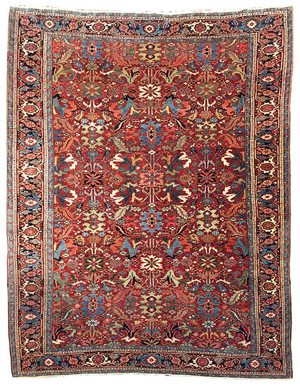 9A0285 Persian Heriz 8.7x12.2