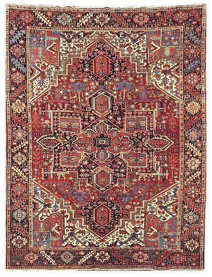 9A0269 Persian Heriz 8.7x11.6