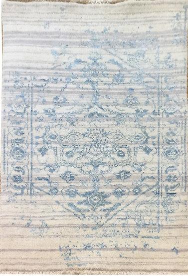 2A0121 Indian Heriz Modern Wool&Silk