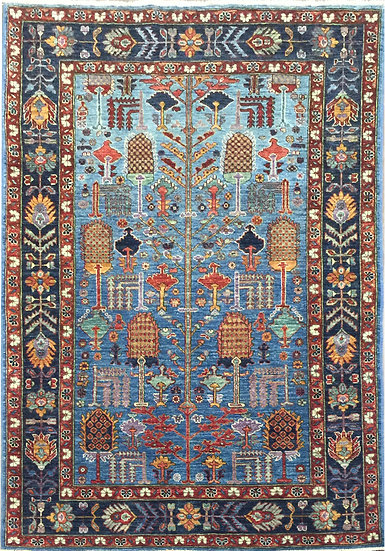 4A0220 Afghan Tree of Life 3.11x6.1