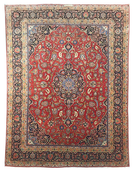 9A0400 Persian Kashan 8.7x12.3