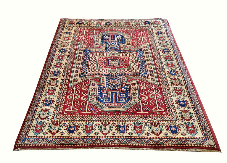 5A0059 Afghan Kazak 4.10x6.5