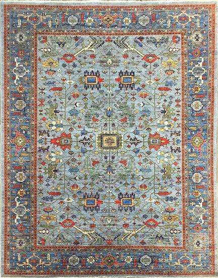 10A0319 Afghan Heriz 9.11x13.11