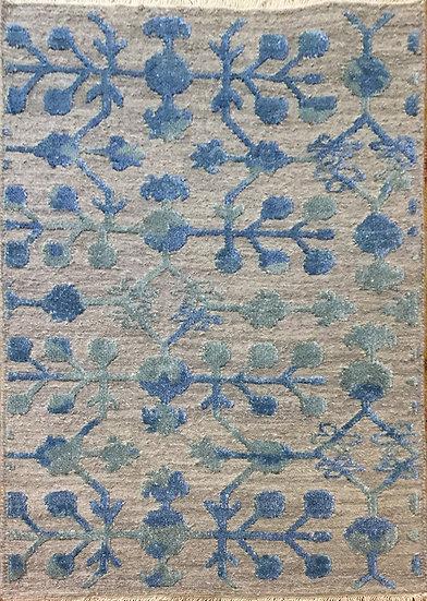 2A0113 Indian Modern Wool & Bambo Silk