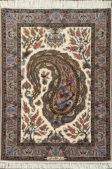 4A0131 Persian Isfahan 3.9x5.10