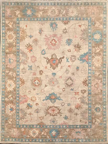 9233 Afghan Oushak 8.7x11.8