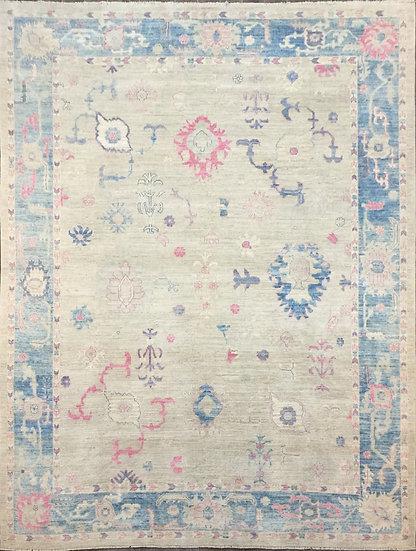 9A0398 Afghan Oushak 9.5x11.5