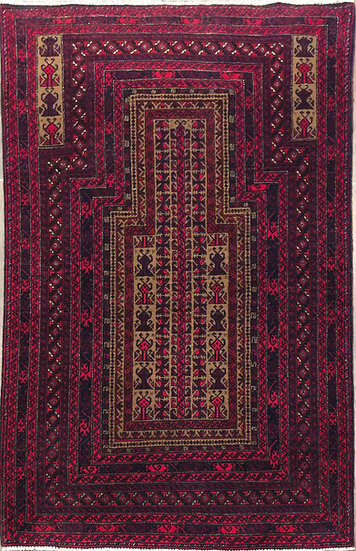 3A0182 Afghan Baluch 3.1x4.7