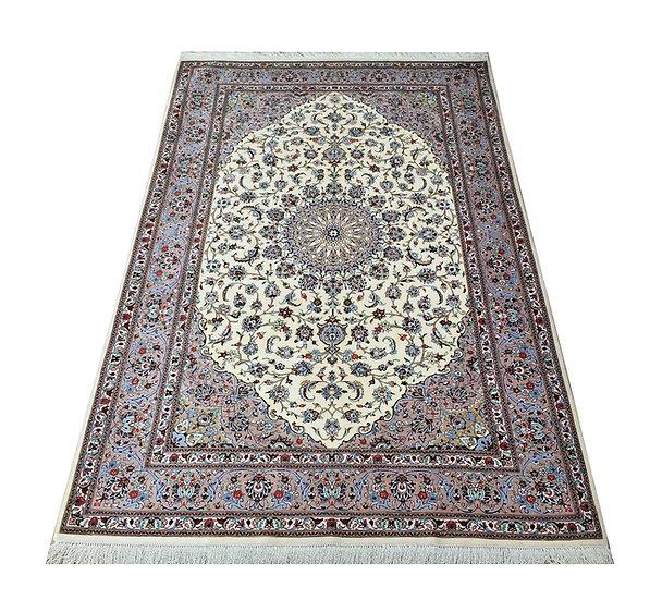 4032 Persian Kashan Falah %100 Silk 4.4x6.5