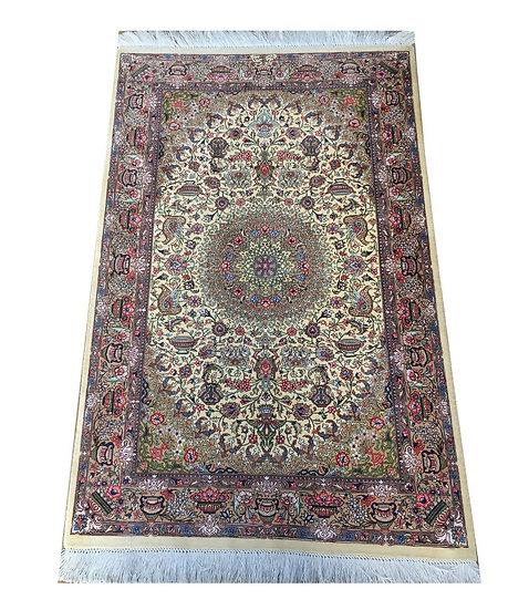 3137 Persian Qom %100 Silk 2.6x4