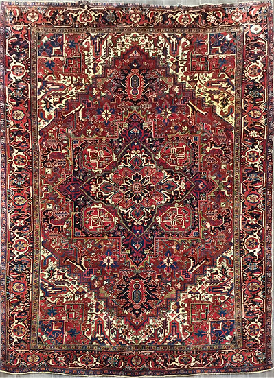 8A427 Persian Heriz 7.8x11.3