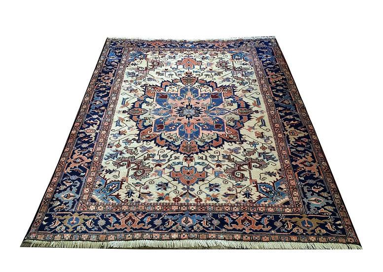 5A0003 Persian Heriz 5.2x6.7