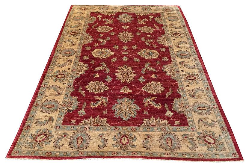 6A0046 Afghan Tabriz 5.6x8.4