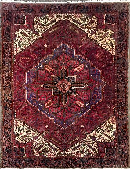10A0314 Persian Heriz  10.4x13.6
