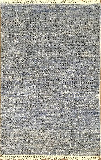 2A0228 Indian Grass Denim-Black&Silver 2x3