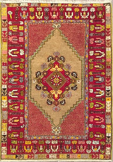 A163 Turkish Oushak  3.6x5.1