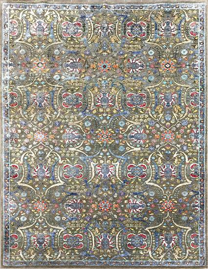 6A0192 Indian Modern Tabriz 6x9.1