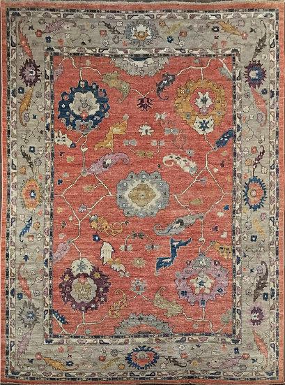 10A0247 Afghan Oushak 9.11x13.7