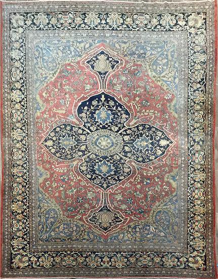 10A0281 Persian Sarouk Farahan 9.10x12.10