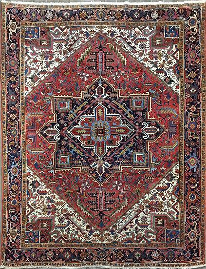9267 Persian Heriz 9.1x11.5