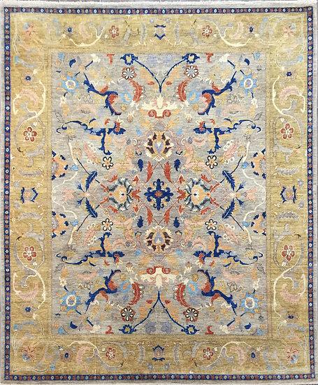 8A426 Afghan Polynesian Isfahan 8.1x9.9