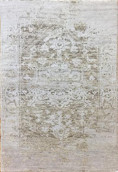 2A0107 Indian Heriz Modern Wool&Silk