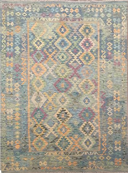 K158 Afghan Kilim 6.11x9.11