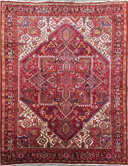 8A429 Persian Heriz 7.10x10.11