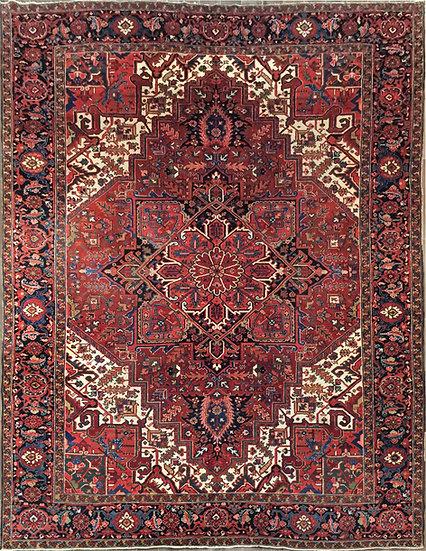 10A0238 Persian Heriz 10.3x13.7