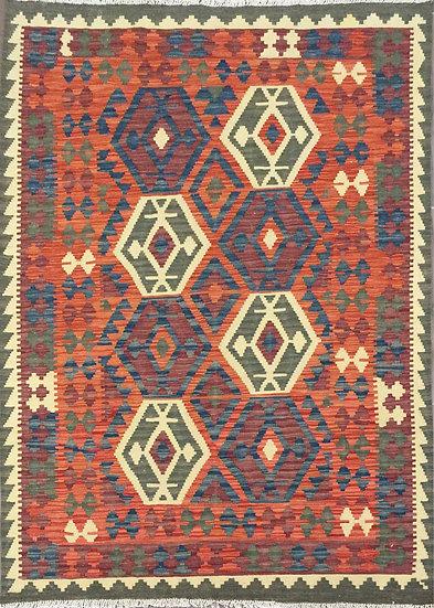 K134 Afghan Kilim 4.3x6.1