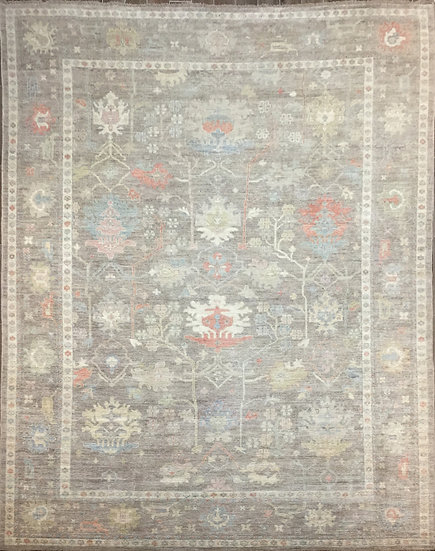 10A0300 Afghan Oushak 10x13.8