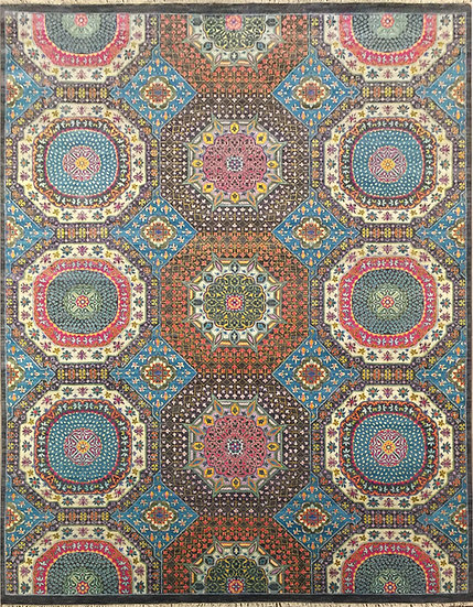 9A0354 Indian Sari Mamluk 8.11x11.10