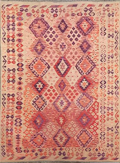 K149 Afghan Kilim 6.9x9.7