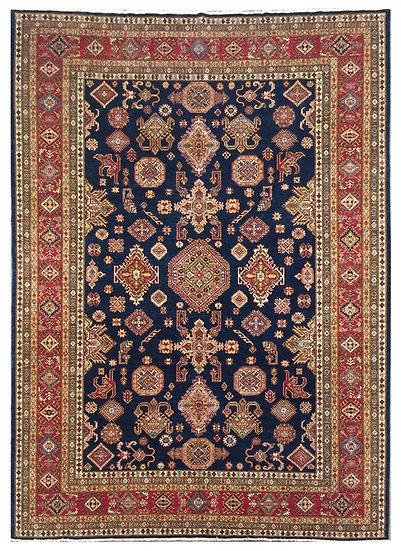 9A0230 Afghan Kazak 9.3x12.4