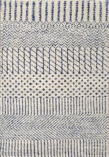 2A0246 Indian Grass Silver-Ink Blue 2x3