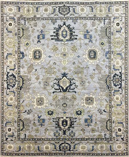8308 Afghan Heriz 8.4x10.4