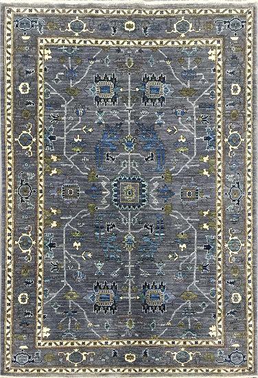 4272 Afghan Heriz 4.3x6