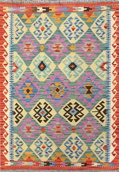 K161 Afghan Kilim 3.4x4.9