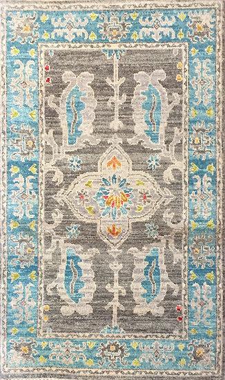 2154 Indian Sari Wool 2x3.2