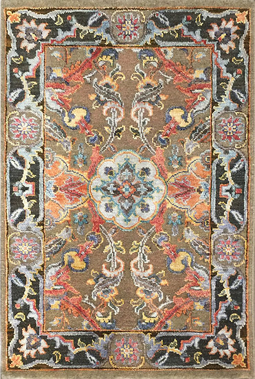 2A0218 Indian Tabriz 2.1x3.2