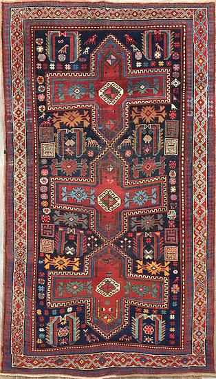 5A0219 Caucasian Kazak 5.2x8.5