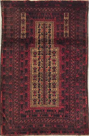 3A0184 Afghan Baluch 3x4.9