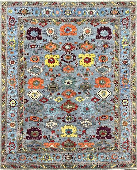 8A420 Afghan Heriz 8.2x10.1