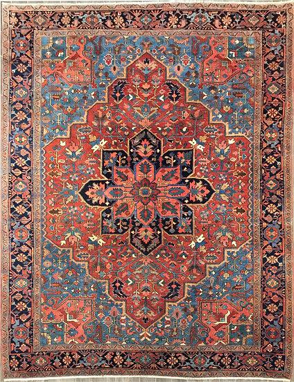9A0274 Persian Heriz 9.1x12.2