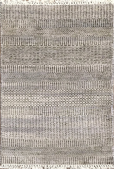 2A0229 Indian Grass Silver-G Charcoal 2x3