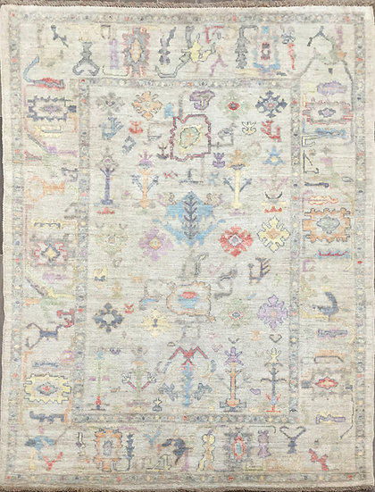 5A0193 Afghan Oushak 4.11x6.11