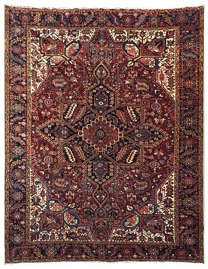 10A0261 Persian Heriz 9.5x12.11