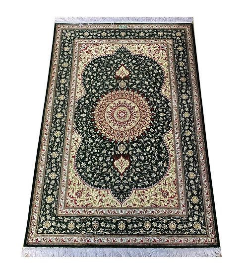 3142 Persian Qom %100 Silk 2.7x4