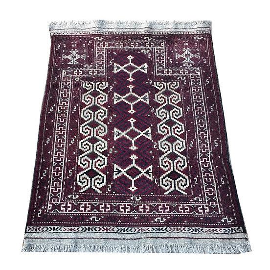 3107 Afghan Baluch Prayer Rug 3x4