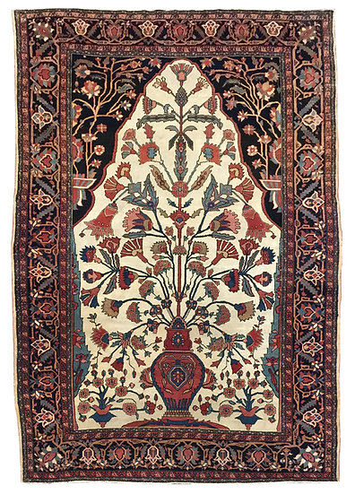 A209 Persian Sarouk Farahan 4.4x6.8